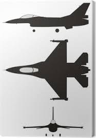Canvas Raket Jet Proef Vliegtuig Image Logo Vector Pixers We