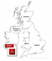 blank map united kingdom. Modren Map UK Countries Labelled PDF Map On Blank Map United Kingdom D