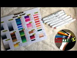 3 Touch Five Markers Color Chart