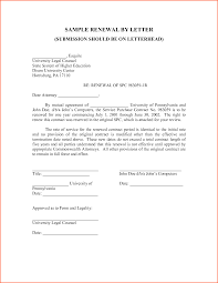 Contract Renewal Letter Template Principal Picture Format Denial