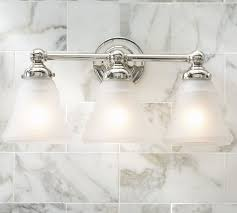 Pottery barn bathroom lighting Foyer Pottery Barn Sussex Triple Sconce Pottery Barn