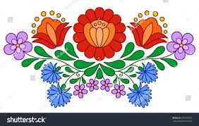 Hungarian Folk Embroidery Designs Traditional Hungarian Folk Embroidery Pattern Isolated On