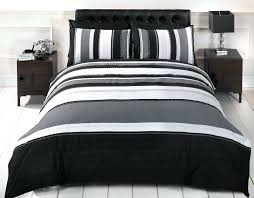 striped brushed cotton duvet cover set grey stripe cotton duvet cover checked amp striped quilt duvet cover amp pillowcase black and white striped duvet