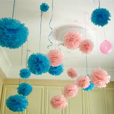 10 pcs diy tissue paper flower balls pom poms wedding hanging