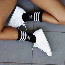 adidas shoes 2016 for girls tumblr. sneakers for girl : picture description summer bright white adidas with black and tube socks shoes 2016 girls tumblr d