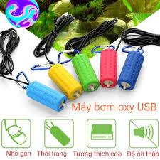 Chỉ 120,000đ - Máy bơm oxy hồ cá bơm hơi 5V cổng USB dùng sạc dự phòng sạc  điện thoại