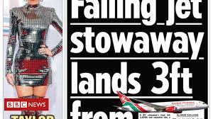 Scotlands Papers Stowaway Lands In Sunbathers Garden