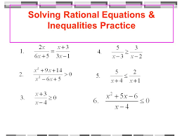 solving equations containing rational expressions ppt