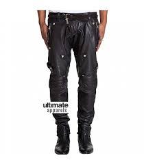 men stylish motorcycle padded black leather pant 149 00