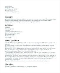 Sample Of Maintenance Resume Maintenance Supervisor Resume Template