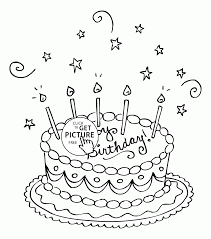 Small Picture Nice Birthday Cake coloring page for kids holiday coloring pages