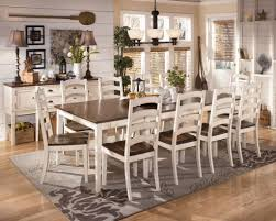 Dining Room Antique White Dining Room Table With Wooden Pedestal - Designer dining room