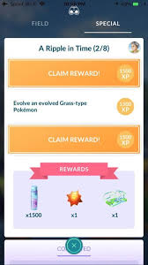 Quest Chart Pokemon Go A Ripple In Time Quest Possible Bug Pokemon Go Wiki