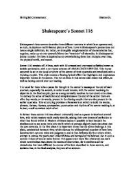 commentary and comparison on sonnet and gcse english  shakespeare s sonnet 116