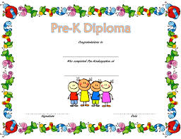 Free Printable Preschool Diplomas Pre Kindergarten Diploma Certificate 2 Paddle At The Point