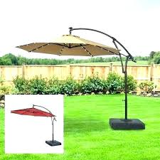 offset patio umbrella with lights led 11 ft solar in tan pa