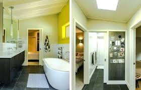 bathroom vanity medium size galvanized sheet metal industrial with guest bath brown shower walls tub how