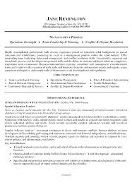 Career Change Resume Profile Statement Examples For Example