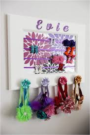 diy picture frame headband holder little girl hair accessories organizer it s a piece of art