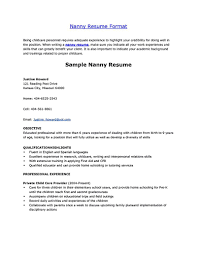 applying for nanny jobs nanny resume nanny resume examples are made for those who are