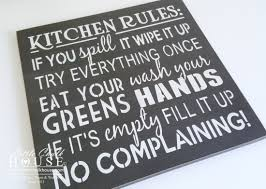picture on wall art kitchen rules with kitchen rules wall art little chalk house
