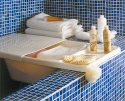 bathroom space savers bathtub storage: even your bathtub could store some stuff when you arent using it