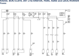 repair guides wiring systems 2006 power distribution radio bcm clstr int lts onstar park hzrd and lock mirror fuses 2006