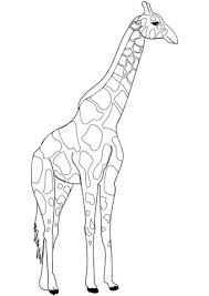 Giraffe Coloring Page Free Printable Coloring Pages
