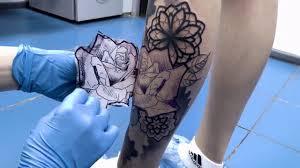 Realistic Tattoo Rose And Mandala тату салон дом элит тату москва Tattoo Stud
