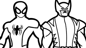 Small Picture Spiderman and Wolverine Coloring Book Coloring Pages Kids Fun Art