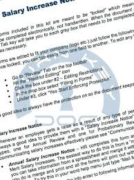 Salary Increase Notice Form Instructions Review Employee Performance ...