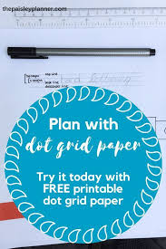 Free Printable Dot Grid Paper Check Out This Free Printable Dot Grid Paper Plus A Basic Tutorial