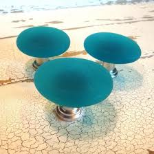 Freeform Beach Glass Cabinet Knobs on CraftIsArt