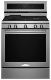 Gas Stainless Steel Cooktop Kitchenaid 58 Cu Ft Self Cleaning Freestanding Gas Convection