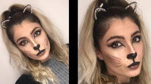 last minute kitty cat makeup tutorial 2018