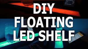 Led Floating Glass Shelves LED Strip Floating Shelf Furniture Lighting YouTube 69