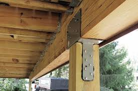 stronger post to beam connections professional deck builder framing structure awc org american wood council