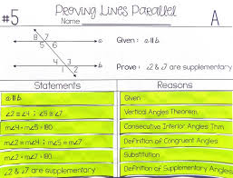my proofs proving lines parallel proof activity differentiated instruction