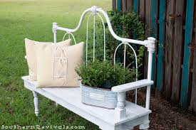 Bench Out Of Headboard Diy Repurposed Metal Headboard Bench Southern Revivals