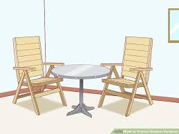 How to Protect Outdoor Furniture with Pictures wikiHow
