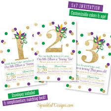 th birthday invite mardi gras birthday invitation purple green gold glitter 1st 2nd 3rd 4th 5th 6th 7th 8th 9th birthday invites new orleans birthday party