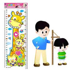 Details About Nursery Height Growth Chart Wall Sticker Baby Kids Zoom Animals Measuring Record