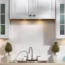 Home Depot Backsplash Kitchen Fasade 24 In X 18 In Traditional 1 Pvc Decorative Backsplash