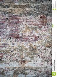 Oude Muur Van Rode Bakstenen Behang Van De Gewone Textuur Van De De