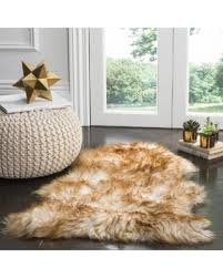 R Safavieh Sheepskin Collection SHS121M Genuine Pelt Beige Premium  Shag Rug 2 X 3 SHS121M2