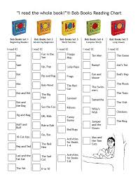 Book Reading Chart Bob Books Reading Chart Checklist Bob Books Phonics