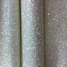 10 Meters Wit Mix Zilver Chunky Glitter Behang Sparkly Ruw Glitter