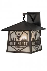 16 w personalized old forge fitness hanging wall sconce