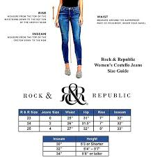 Rock And Republic Jeans Size Chart Rock Republic Womens Skinny Jeans Low Rise Blue Incredible