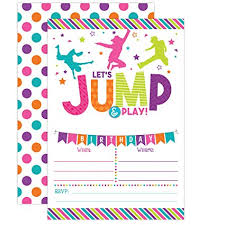 Amazon Bounce House Birthday Invitation Trampoline Jump Best Birthday Invitation Pictures
